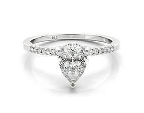 3dm jewelry solitaire engagement ring
