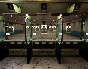 3D model low-poly Shooting Range