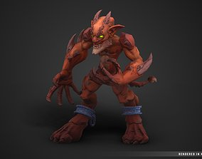 3D asset Stylized Fantasy Imp