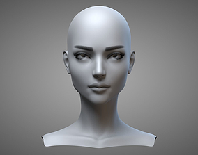 3D model Female Head 2