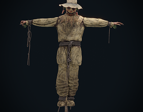 3D asset animated Scarecrow