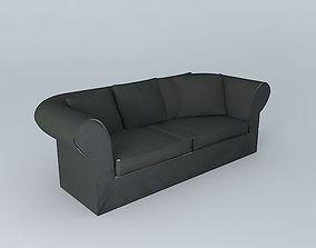 3D gray sofa ROMA houses the world