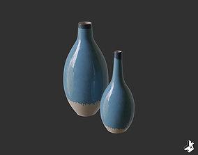 interior Set of Cascade Ceramic Vases 3D model