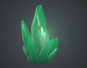 3D asset Green Crystal PBR Game Ready