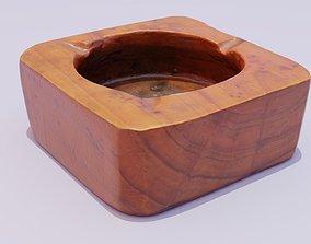 3D asset Ashtray wood