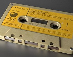 3D model tape Audio Cassette