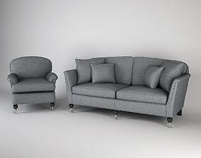 3D Duresta Collection Sofa and Armchair