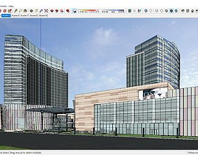 3D Sketchup residential complex A10