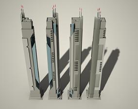 Iso Tower02 3D asset
