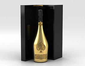 3D model Ace of Spades Champagne