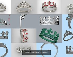 3D Crown ring s pack