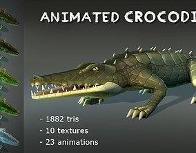 3D asset Animated Crocodiles Pack