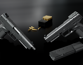 FN Five-Seven MK2 Handgun 3D model VR / AR ready