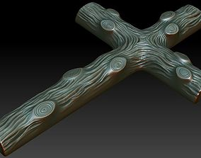 3D printable model pendant Wooden Cross