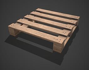 3D asset Low poly European Wood pallet 07 PBR Game