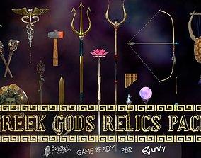 3D asset VR / AR ready Greek Gods Relics Pack