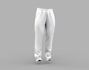 3D model Mens pants sportswear trousers Marvelous Designer