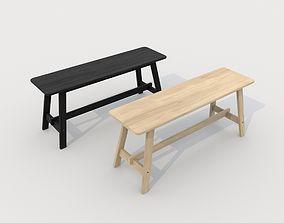 3D model Norroker bench