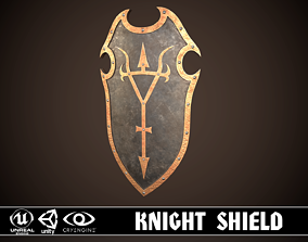 3D model game-ready Knight Shield 04