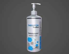 Sanitizer Bottle Theruptor with liquid 3D model