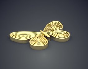 3D print model Butterfly Shape Brooch