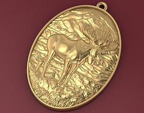 Deer pendant 3D print model
