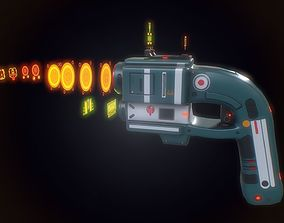 VR / AR ready Low poly sci fi energy pistol weapon asset