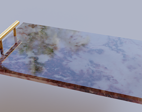 3D model game-ready Marble tray