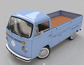 VOLKSWAGEN T2 PICKUP SINGLE CAB 1974 3D model