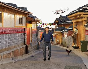 Street - South Korea 3D model