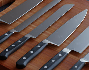 Kitchen Knifes Set - Low Poly Game ready prop game-ready 1