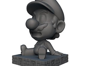 Mario Bobble head plumber 3D print model