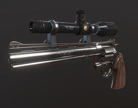 Colt Python 375 Low-poly 3D asset