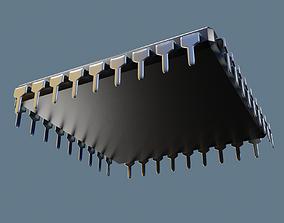 Computer chip CPU processor 3D model