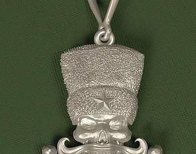 Medallion Skull Astrakhan Hat 3D print model