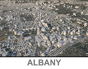 3D asset realtime Albany city in New York