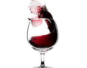 Splash Wineglass 3 3D model