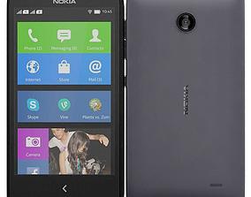 3D model Nokia X X Black