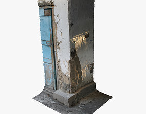 Old wall corner scanned 3D