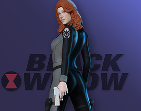3D printable model Black Widow - Fan art johansson