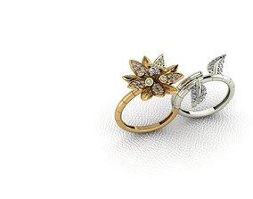 3D printable model Ring 45 flower