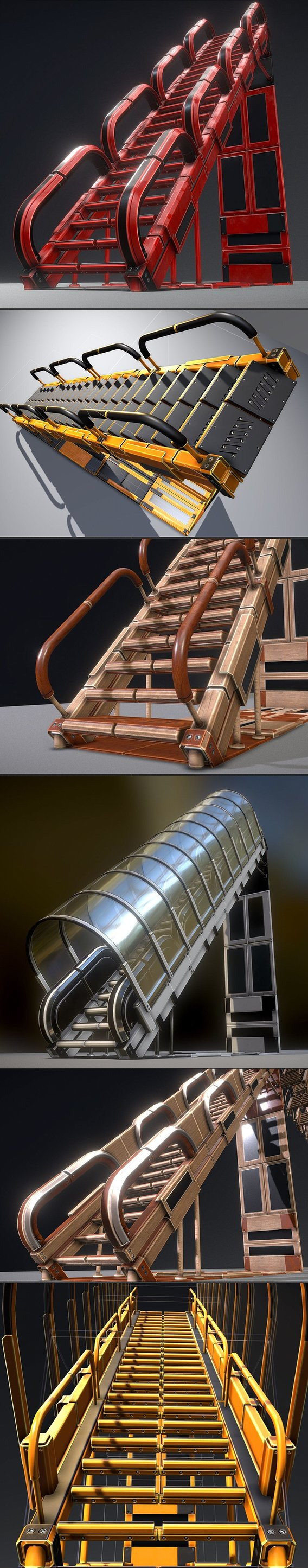 Modular Sci-Fi Stairs Collection