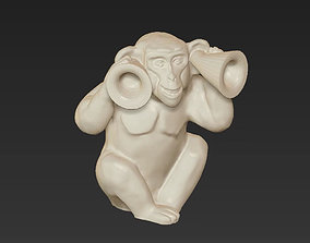 horoscope symbol deaf monkey chinese 2016 3D print model