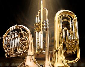 3D model Yamaha wind instruments