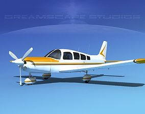3D model Piper Cherokee Six 300 V02