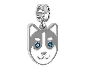 3D print model Dog enamel charm