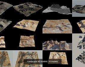 Landscape 3D models saturn cratere