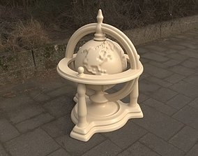Rotating Engraved Globe - 3 Parts 3D printable model