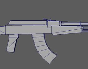 3D asset Weapon ak-47