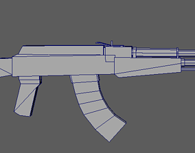 3D asset Weapon ak-47